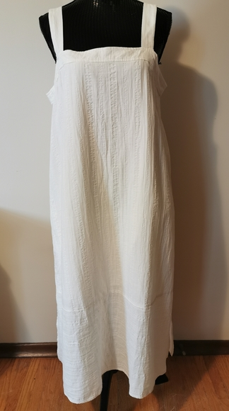 Eileen Fisher Cotton Cream Sundress Size Large